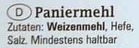 Paniermehl / Chapelure - Ingrediënten - de