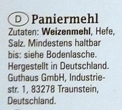 Paniermehl / Chapelure - Ingrediënten