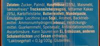 Haselnuss Schnitte - Laktosefrei - Inhaltsstoffe