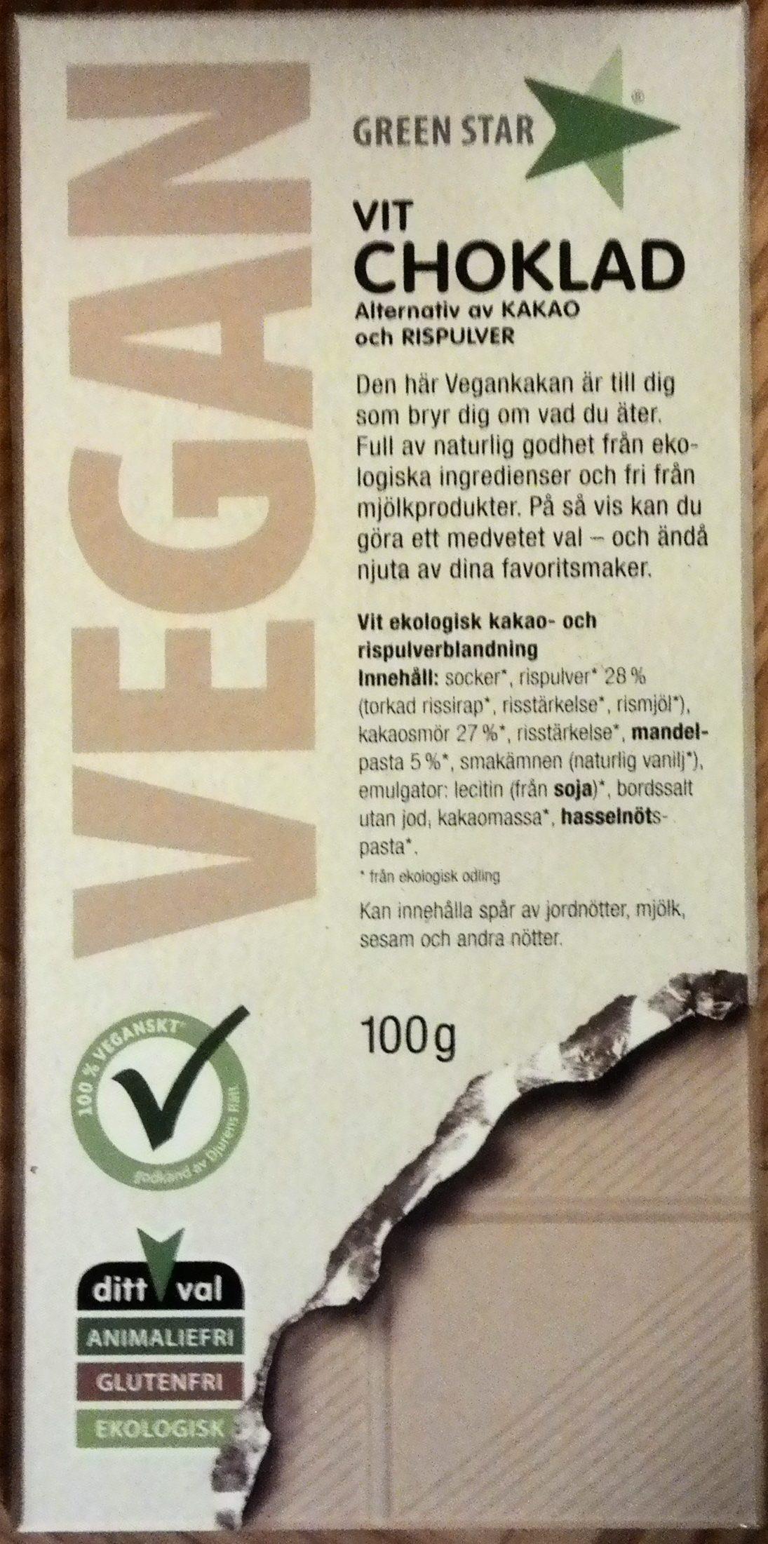 Green Star Vit Choklad - Product