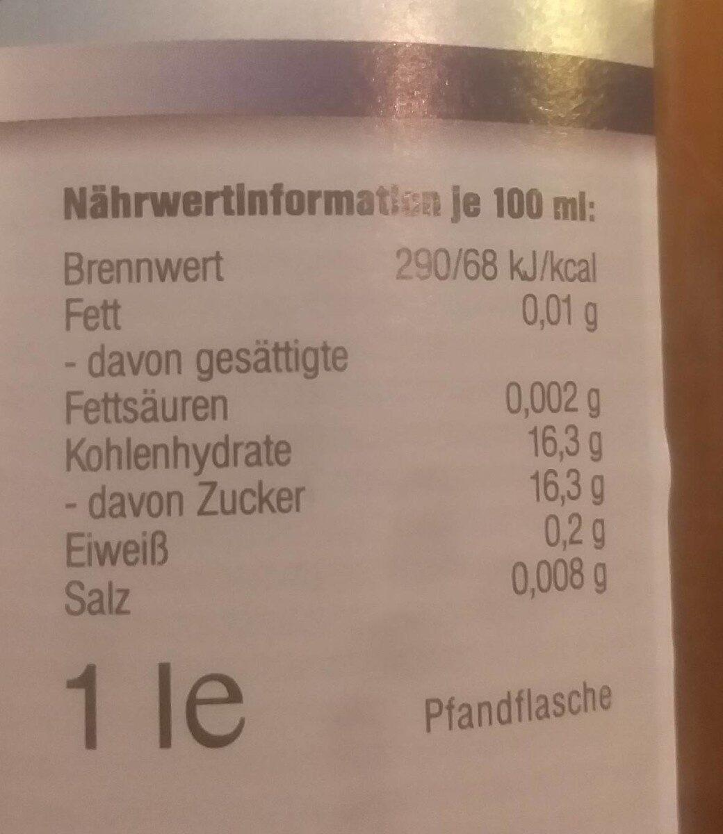 weißer Traubensaft - Valori nutrizionali - de