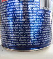 Cashews Geröstet Und Gesalzen 150G Dose Pittjes - Ingrédients - fr