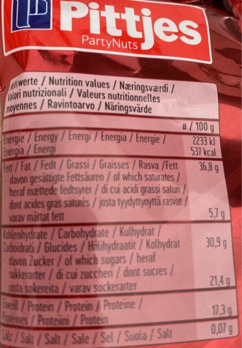 Pittjes Studentenfutter - Nutrition facts - fr