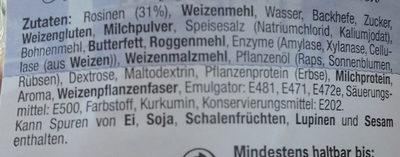 Rosinen Brötchen - Ingrédients - de