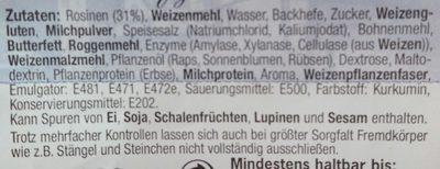 Rosinen Brötchen - Ingredients