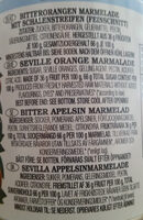 Koo bittere Orangen Marmelade - Inhaltsstoffe - de