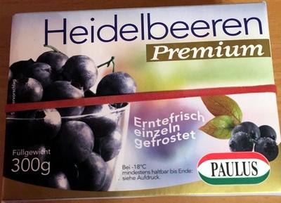 Heidelbeeren - Produkt