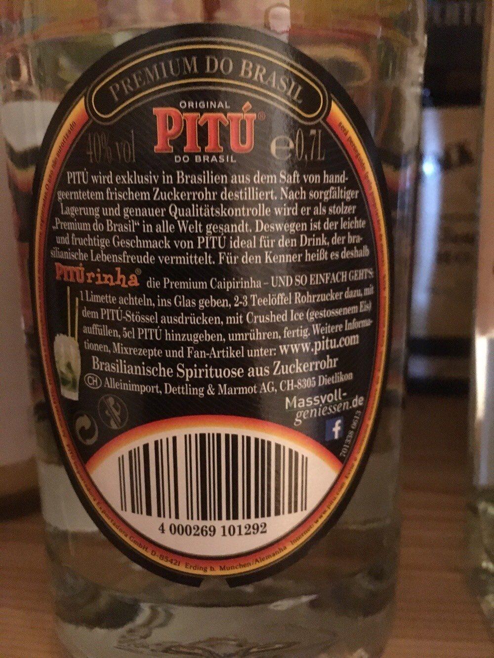 Pitú Do Brasil (Caipirinha) - Produit - fr