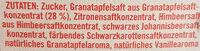 Frucht-Sirup Granatapfel - Ingrédients - de