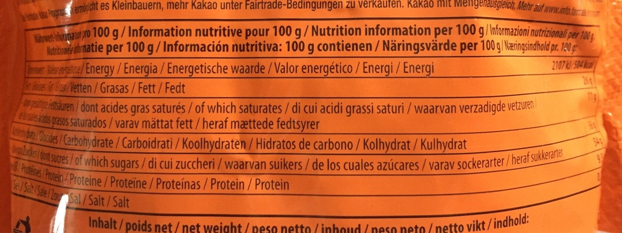 Treets - Informations nutritionnelles - fr