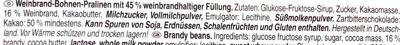 Weinbrandbohnen - Ingredients