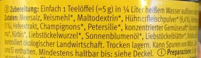 Hühnerbouillon - Ingredients - de