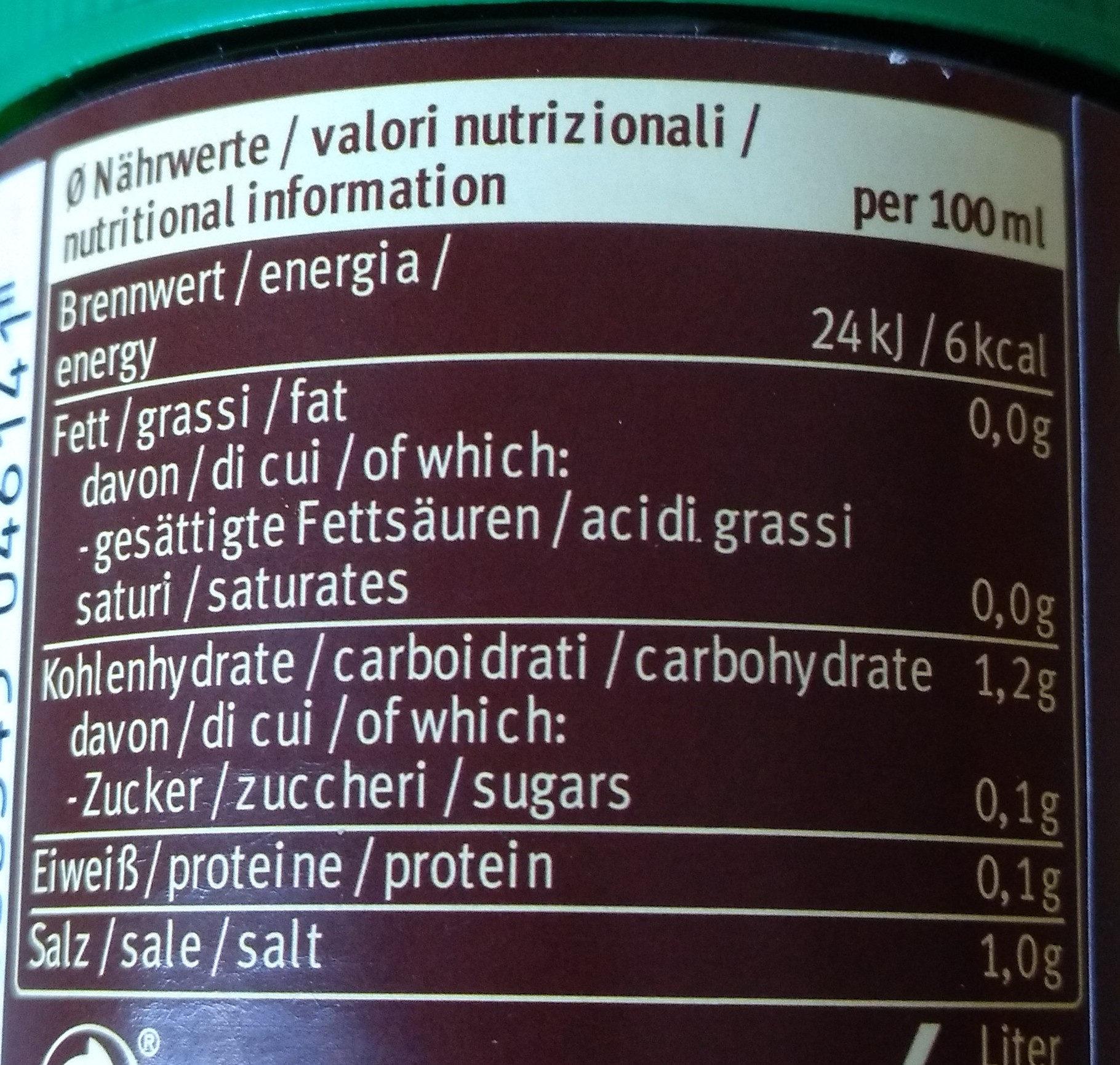 Bouillon mit Rindfleisch - Voedigswaarden