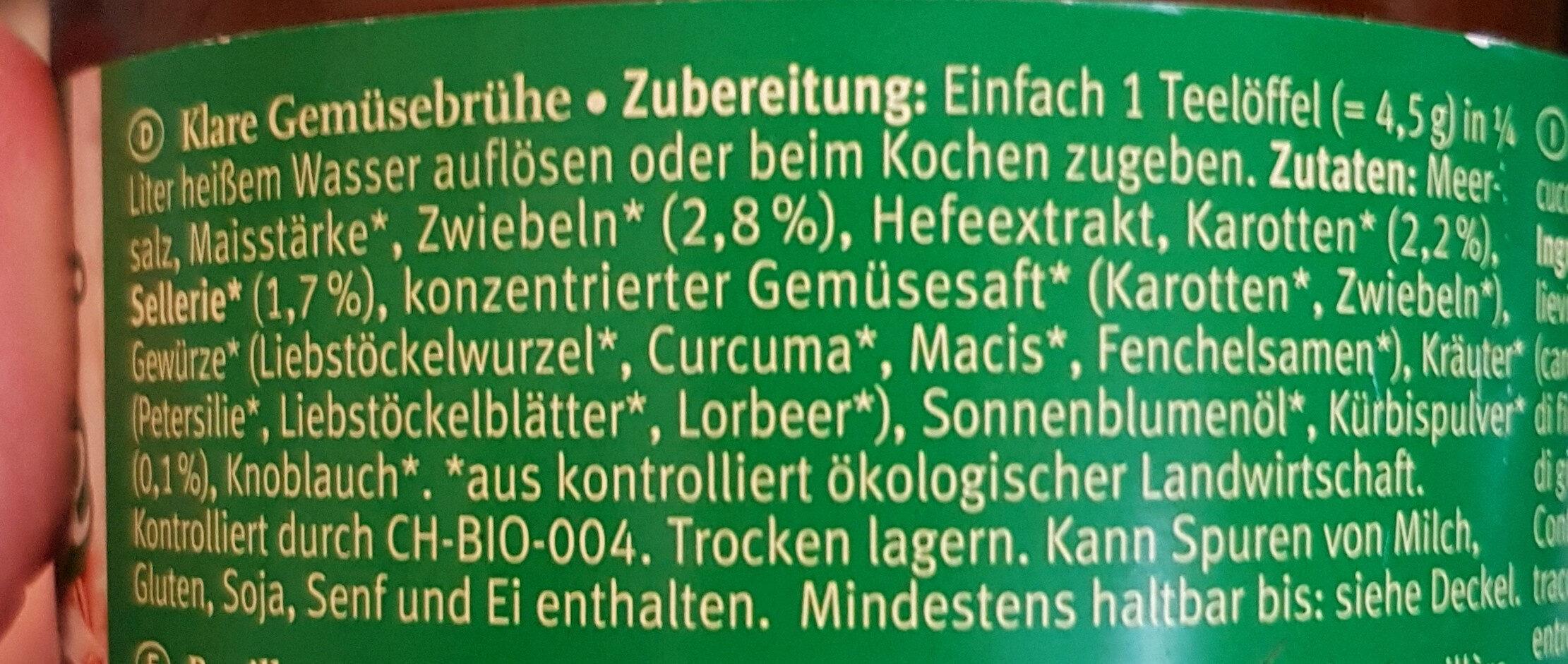 klare Gemüsebrühe zum Würzen - Ingredients - en