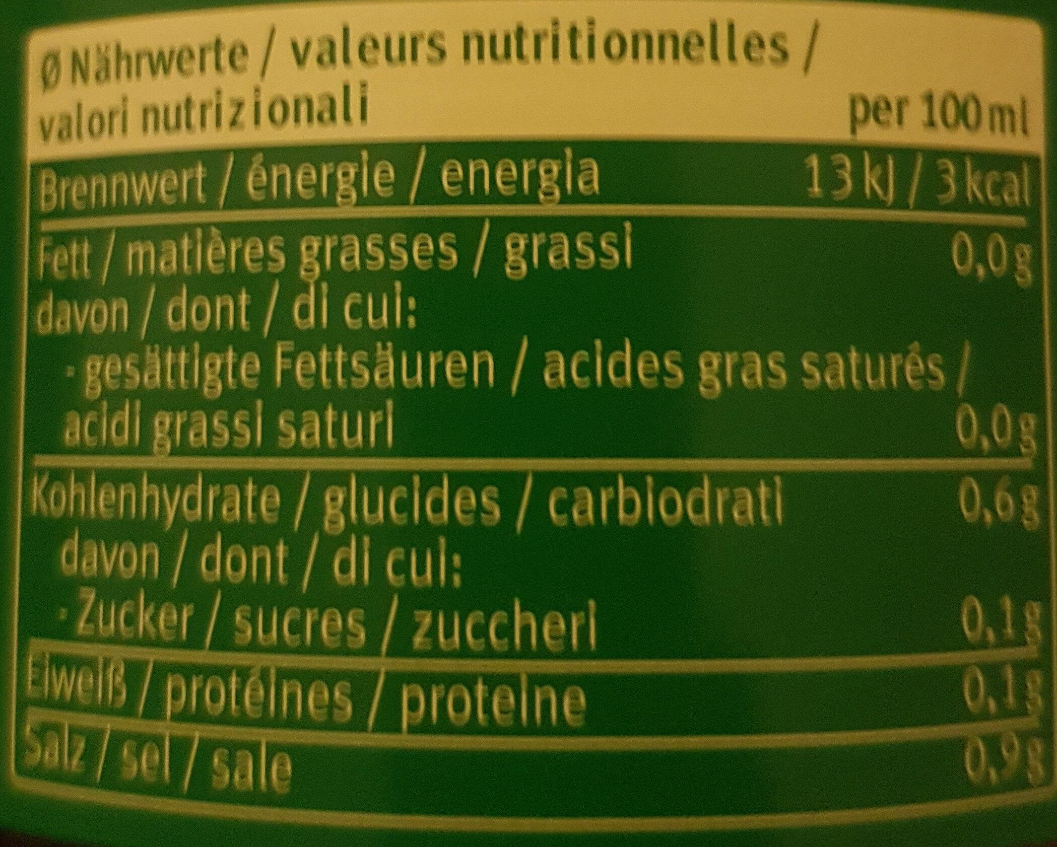 klare Gemüsebrühe zum Würzen - Nutrition facts - en