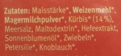 Kürbis Cremesuppe - Ingredients