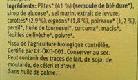 Soupe Instantanee Printemps 34G Demi L - Ingredientes