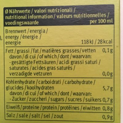 Soupe Instantanee Printemps 34G Demi L - Información nutricional - fr