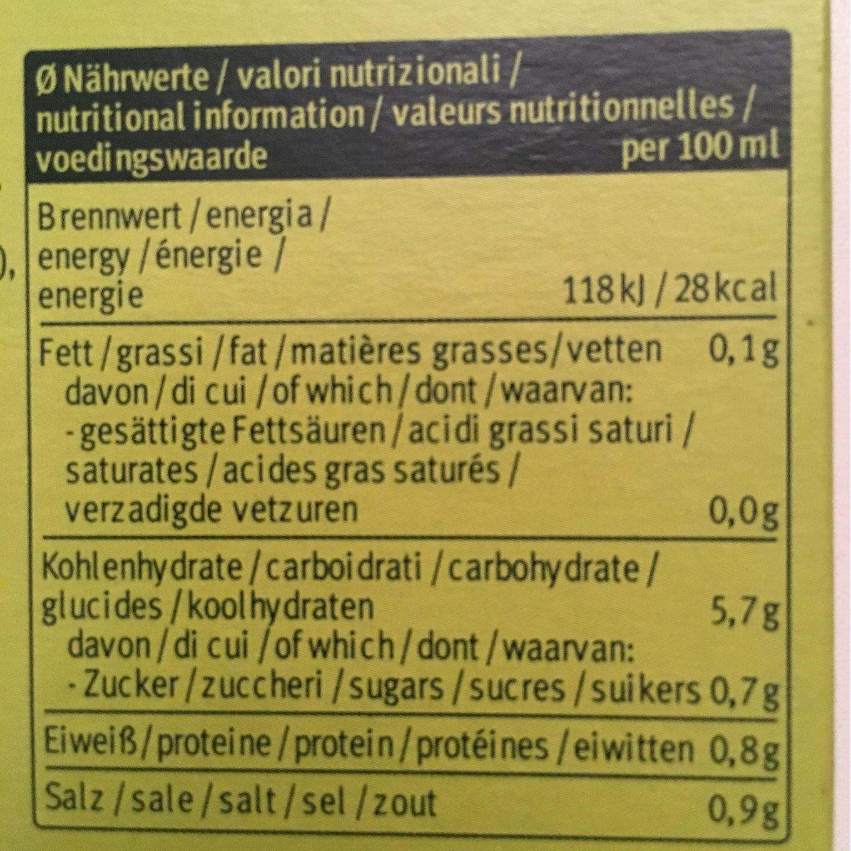 Soupe Instantanee Printemps 34G Demi L - Información nutricional