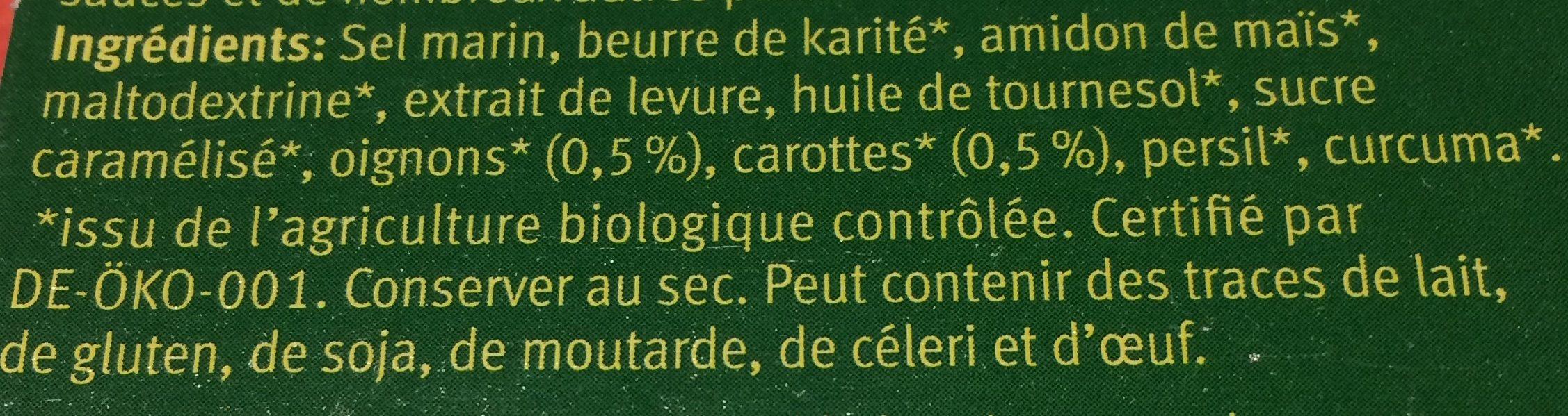 Bouillon Vegetal Cubes Sans Huile De Palme - Ingredients - fr