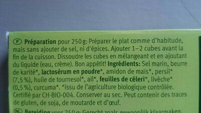 Bouillon Cubes Persil - Ingredients - fr