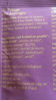 POTAGE AUX ASPERGES 40G DEMI L - Ingrediënten - fr