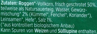 Bio-Barbara-Rütting-Brot - Ingrediënten - de