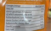 Sesam Brezeln - Valori nutrizionali - fr