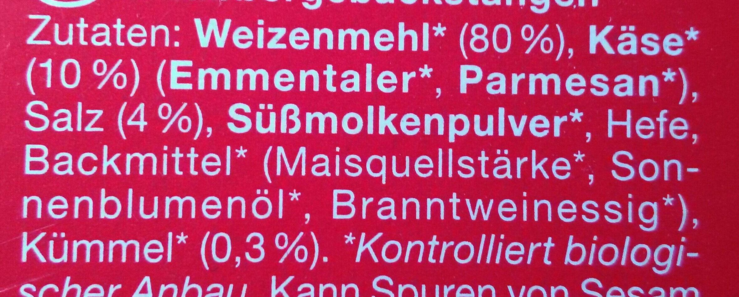 Käse-Grisette - Inhaltsstoffe - de
