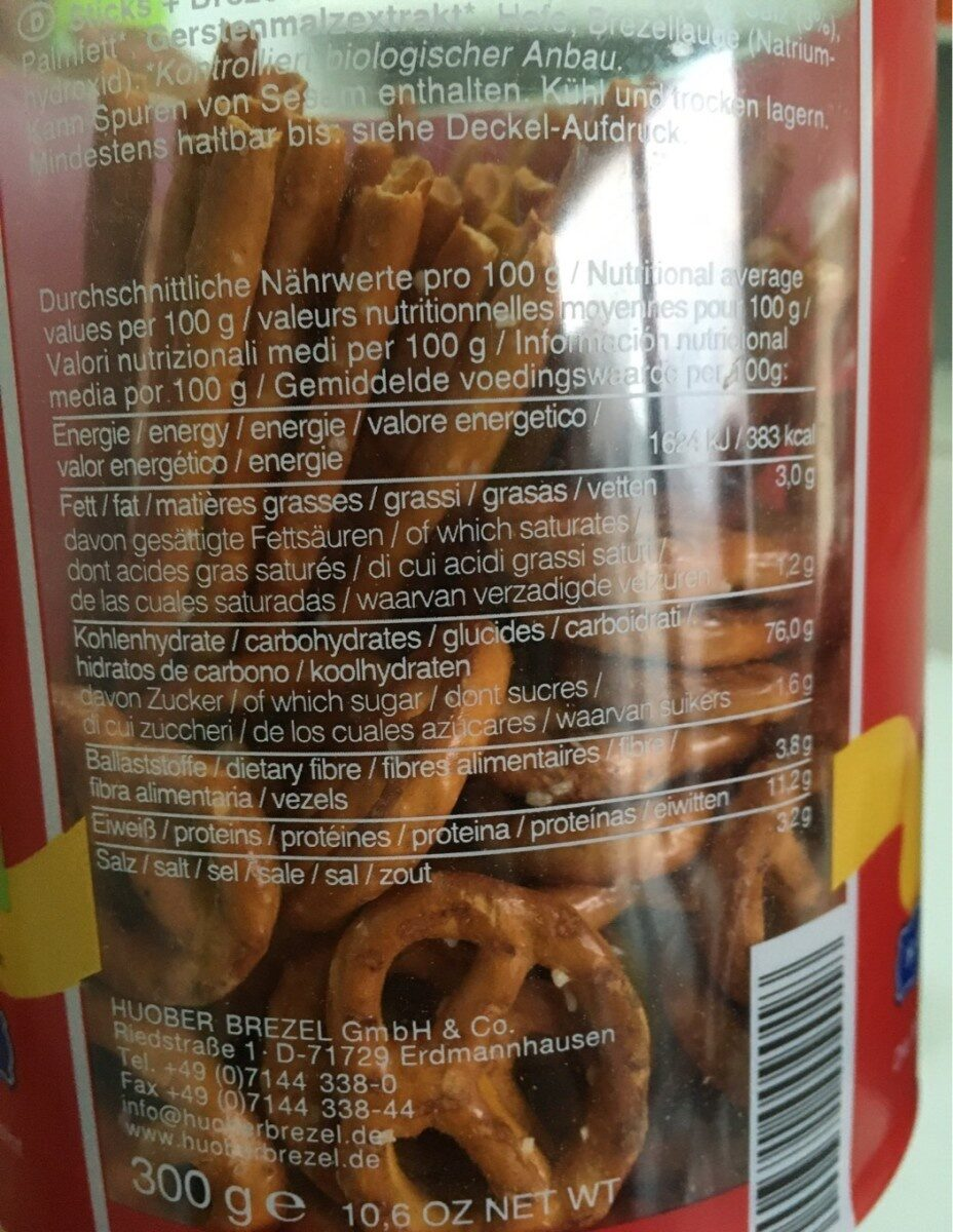 Sticks And Brezel - Informations nutritionnelles - fr