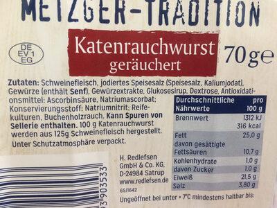 Katenrauchwurst - Ingrediënten - de