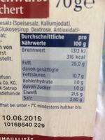 Katenrauchwurst - Voedingswaarden - de