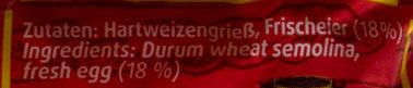 Schwäbische Knöpfle - Ingrediënten - de