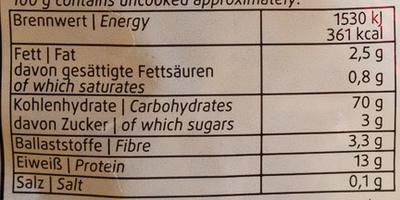 Nudeln: Original Schwäbische Spätzle - Voedingswaarden - de