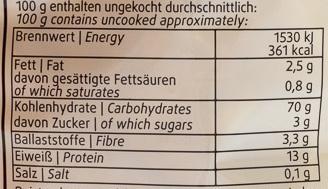 Schwäbische Bandnudeln - Voedingswaarden - de