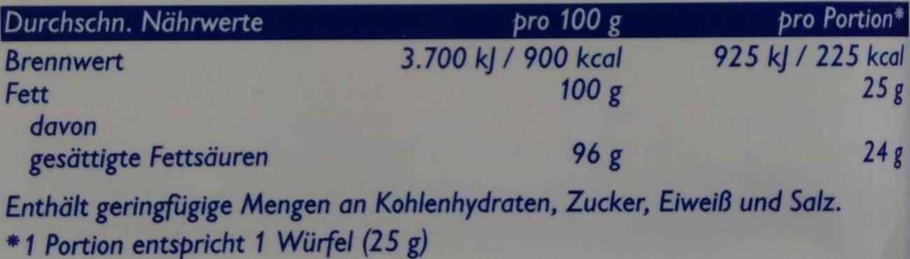 Palmin - Nutrition facts - de