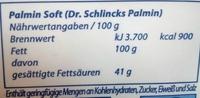 Palmin soft - Nährwertangaben