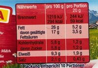 Salami mit Allgäuer Milch - Informations nutritionnelles - de