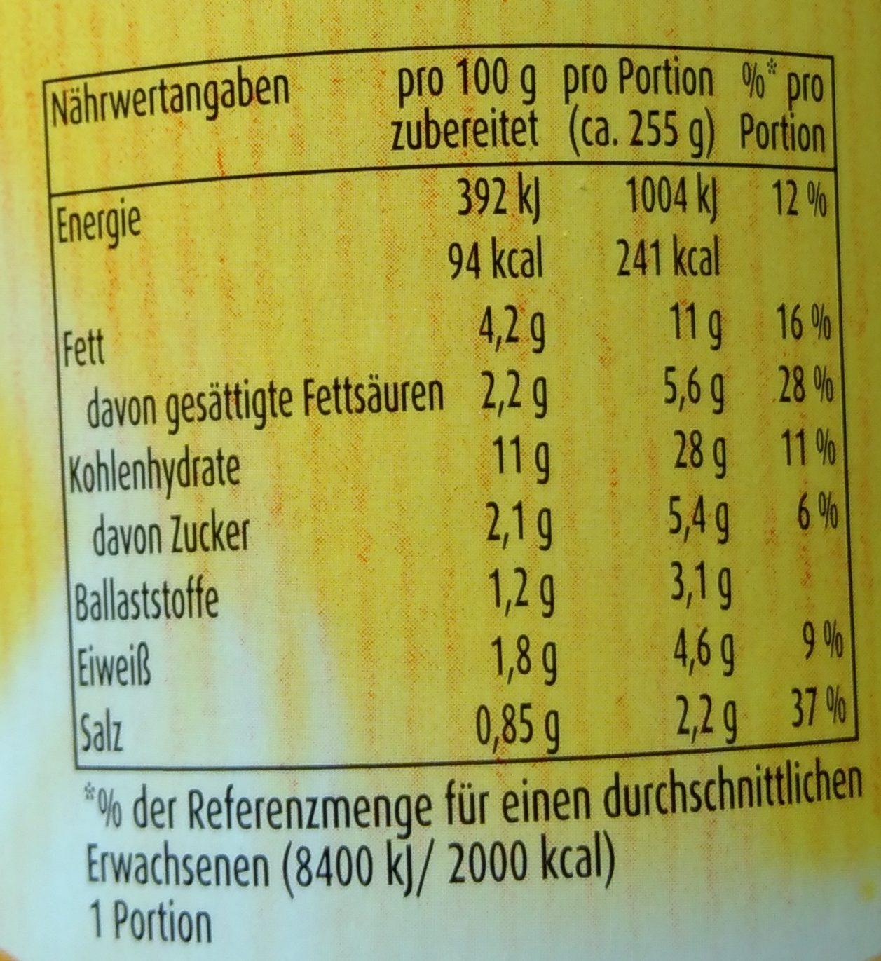 Kartoffel Kcal kartoffel snack röstzwiebel pfanni 56 g 255 g rehydrated