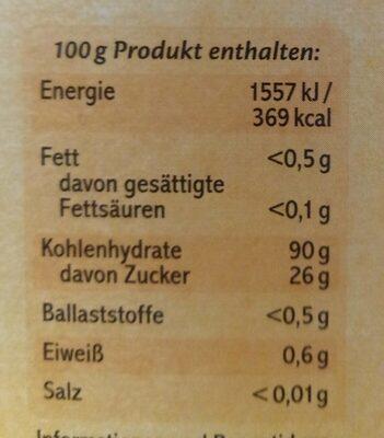 Soßenbinder - Valori nutrizionali - en