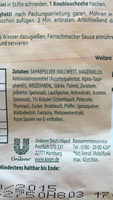 Kräuter Sauce - Ingrédients - fr