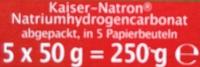 Kaiser-Natron - Inhaltsstoffe - de
