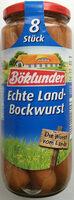 Echte Land-Bockwurst - Product - de