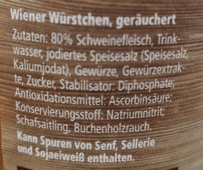 Bauernküche Wiener extra knackig - Inhaltsstoffe