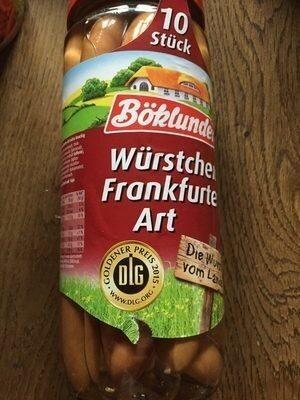 Würstchen Frankfurter Art - Prodotto - de