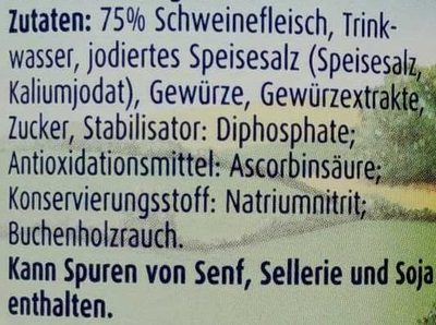 Echte Land-Bockwurst - Ingredients - de