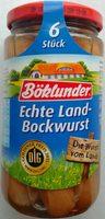 Echte Land-Bockwurst - Produkt