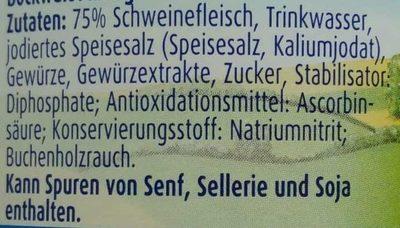 Echte Land-Bockwurst - Inhaltsstoffe