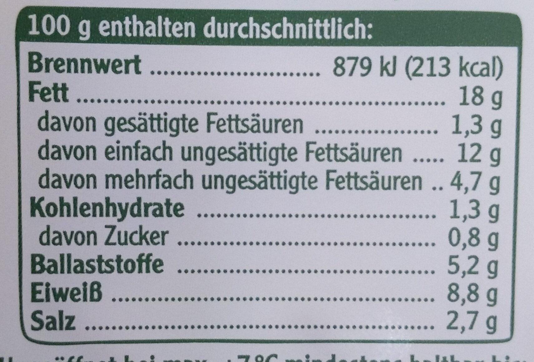 Vegetarische Mühlen Würstchen Minis - Valori nutrizionali - de