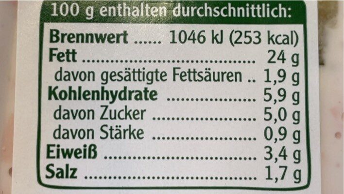Vegetarischer Schinken Spicker Salat - Informations nutritionnelles - de